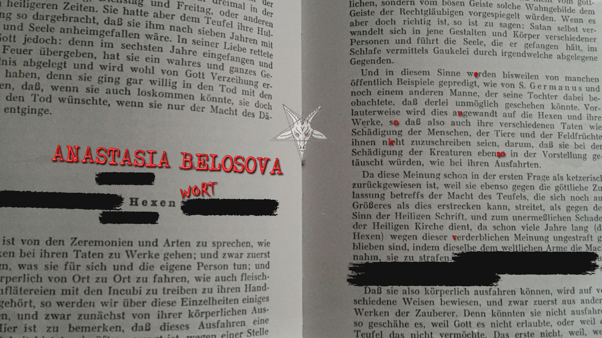 HEXENWORT mit ANASTASIA BELOSOVA